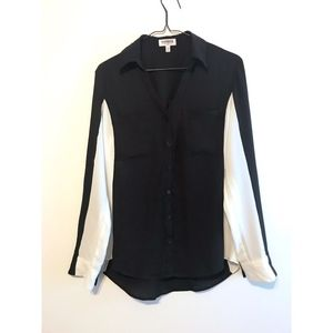EXPRESS Black & White Blouse